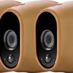 3x Silicone Skins for Arlo Smart Security – 100% Wire-Free Cameras by Wasserstein (3 Pack, Brown)