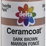 Delta Creative Ceramcoat Acrylic Paint in Assorted Colors (2 Ounce), 02053 Dark Brown