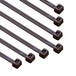 8-in 100-Pack, 75-lb, Dark Brown, Standard Nylon Cable Tie