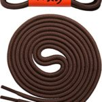 Round Shoelaces [3 Pairs] 5/32″ Thick – For Shoes, Sneakers & Boots – By Miscly