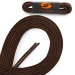 OrthoStep Waxed Very Thin Dress Round Classic Brown 33 inch Shoelaces 2 Pair Pack