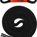 Waxed Thin Round Dress Shoelaces [3 Pairs] 3/32″ Thick – By Miscly