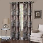 Achim Home Furnishings Vogue Grommet Window Curtain Panel, 50″ x 84″, Brown
