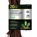 GoGreen Power GG-24820 16/2 20′ Household Extension Cord – Brown