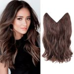 HairPhocas 14″ #2/30 Dark Brown Color Secret Hair Extensions Synthetic Curly Wave Hairpieces