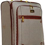 Nicole Miller Taylor 24″ Expandable Spinner Suitcase (Brown Plaid)