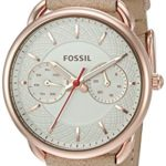 Fossil Women's ES4007 Tailor Multifunction Light Brown Leather Watch