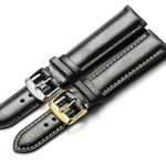 iStrap 18 19 20 21 22mm Genuine Calfskin Leather Watch Band Padded Strap Steel Spring Bar Buckle Super Soft(Six Color Choose)
