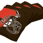 Wild Sports NFL Cleveland Browns Brown Authentic Cornhole Bean Bag Set (4 Pack)