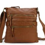 Scarleton Casual Double Zipper Crossbody Bag H182004 – Brown