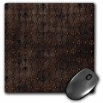 3dRose Elegant vintage damasks in brown – Mouse Pad, 8 by 8 inches (mp_201079_1)