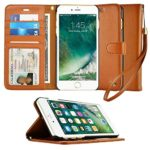 iPhone 6S Case, caseen  Ciro Leather Wallet Case (Brown) w/ Flip Cover, Credit Card Pockets