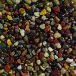 """Safe & Non-Toxic {Small Size, 0.3"""" Inch} 30 Pound Bag of Gravel & Pebbles Decor for Freshwater & Saltwater Aquarium w/ Dark Earthy Tones Forest River Style [Brown, Tan, Green, Red & Yellow]"""