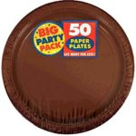 Chocolate Brown Big Party Pack – Dessert Plates (50 count)
