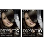 Clairol Perfect 10 By Nice 'N Easy Hair Color 004 Dark Brown 1 Kit (Pack of 2)