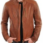 LeatherJacket4u Mens Leather Jacket 016 X-Large Tan