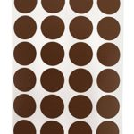 3/4″ Dark Brown Color Coding Dot Labels on Sheets | Permanent Adhesive, 0.75 in. — 1,008 Round Stickers per Pack