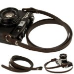 Dark brown whole leather Camera neck shoulder strap for Film SLR DSLR RF Leica Digital