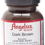 Angelus Brand Acrylic Leather Paint Water Resistant 1 oz – Select Your Color (#18 Dark Brown)