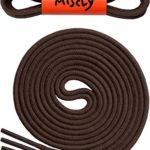 Thin Round Dress Shoelaces [3 Pairs] 3/32″ Thick – Premium Quality – By Miscly (30″, Dark Brown)