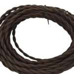 Brown Twisted Cotton 18/2 Cloth Cord – 25′ Antique Style Wire – Vintage Style Cloth Cord – by Industrial Rewind