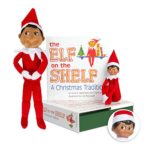 Elf on the Shelf Bundle – The Elf on the Shelf: Christmas Tradition Book with Dark Skin Brown Eyed Boy Scout Elf and Boy Plushee Pal