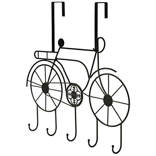 5 Hook Vintage Style Metal Bicycle Shaped Over The Door