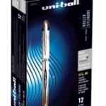 uni-ball Vision Elite BLX Infusion Rollerball Pens, Bold Point (0.8mm), Brown/Black, 12 Count