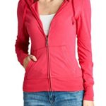 VVK Women's Lightweight Cotton Hoodie Casual Zip-Up Jackets (SMALL TO 3XLARGE)