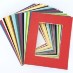 Pack of 20 MIXED COLORS 11×14 Picture Mats Matting with White Core Bevel Cut for 8×10 Pictures