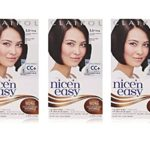 Clairol Nice 'n Easy Hair Color 121A, 3.5 Natural Darkest Brown 1 Kit (Pack of 3)