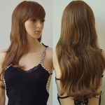 """Anime Cosplay Synthetic Full Wig with Bangs for Women Girls 23"""" Long Layered Wave Japanese Kanekalon Heat Resistant Fiber (light brown)"""
