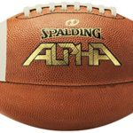 Spalding Alpha Leather Football, Light Brown/Red, Junior