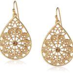 "1928 Jewelry ""Basic Classics"" Filigree Pearshape Drop Earrings"