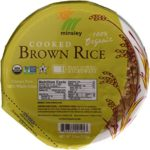 Minsley Cooked Brown Rice Bowl, Organic, Reday in 90 sec.Microwave, 7.4-Ounce Bowls Pack of 6