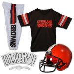 Franklin Sports NFL Cleveland Browns Deluxe Youth Uniform Set, Medium