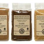 Mauritius Brown Sugar Bundle – Demerara, Dark Muscovado and Light Muscovado – 1 Pound Bags (3 items)