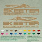 Pair of Skeeter Performance Boats Outboards Decals Vinyl Stickers Boat Outboard Motor Lot of 2 (12″, Light Brown 081)