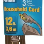 Prime Wire & Cable EC670612 12-Foot 16/2 SPT-2 3-Outlet Indoor Cord, Brown