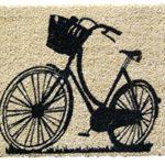 "Entryways Bike Handmade, Hand-Stenciled, All-Natural Coconut Fiber Coir Doormat, 18"" X 30"" X .75"""