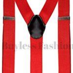 "Buyless Fashion Mens 48'' Elastic Adjustable 1 1/2"" Suspenders In Y Shape"