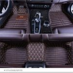 Okutech Custom Fit Luxury XPE Leather Waterproof 3D Full Set Car Floor Mats for Lexus LS 430 460 600h, Dark Brown sewing